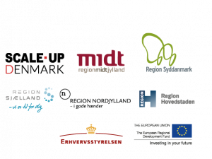 Next Step Challenge is part of Scale-Up Denmark which is funded by the 5 Danish regions and the EU fund for Regional Developments.