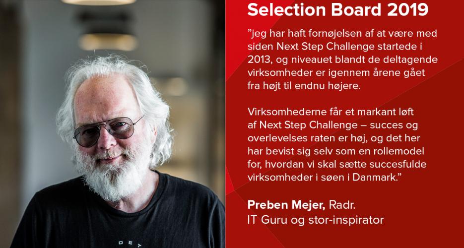 Preben Mejer fra Radr er IT Guru og partner i Next Step Challenge