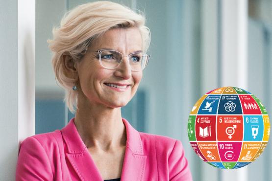 Ulla Tørnæs Minister for Udviklingsaamarbejde i Next Step Challenge